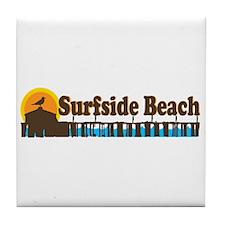 Surfside Beach SC - Pier Design Tile Coaster