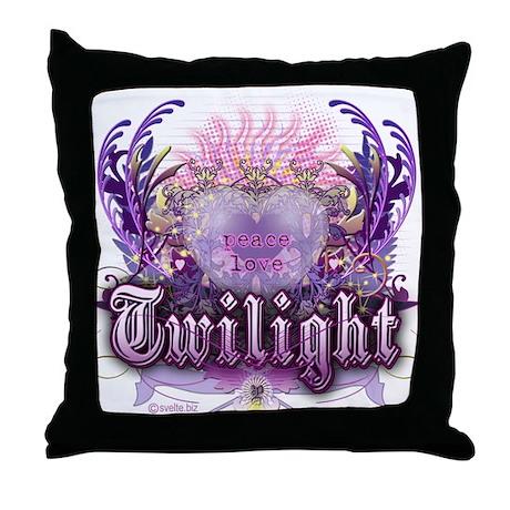 Peace Love Twilight Throw Pillow