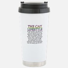 The gay lifestyle (Stainless Steel travel mug)