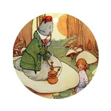 ALICE & THE CATERPILLAR Ornament (Round)