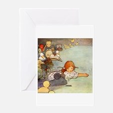 ALICE & THE CAUCUS RACE Greeting Card