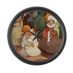 ALICE MEETS THE DUCHESS Large Wall Clock