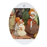 ALICE MEETS THE DUCHESS Oval Ornament