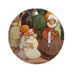ALICE MEETS THE DUCHESS Ornament (Round)