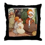 ALICE MEETS THE DUCHESS Throw Pillow