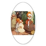 ALICE MEETS THE DUCHESS Oval Sticker (50 pk)