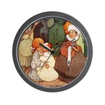 ALICE MEETS THE DUCHESS Wall Clock
