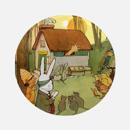 ALICE IN THE RABBIT'S HOUSE Ornament (Round)