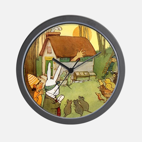 ALICE IN THE RABBIT'S HOUSE Wall Clock