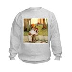 ALICE & THE PIG BABY Kids Sweatshirt