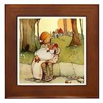 ALICE & THE PIG BABY Framed Tile