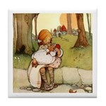ALICE & THE PIG BABY Tile Coaster