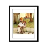 ALICE & THE PIG BABY Framed Panel Print