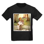 ALICE & THE PIG BABY Kids Dark T-Shirt