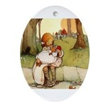 ALICE & THE PIG BABY Oval Ornament