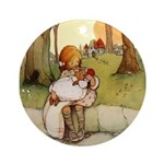 ALICE & THE PIG BABY Ornament (Round)