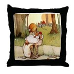 ALICE & THE PIG BABY Throw Pillow