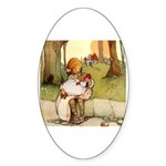 ALICE & THE PIG BABY Oval Sticker