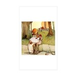 ALICE & THE PIG BABY Rectangle Sticker 10 pk)