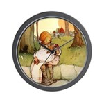 ALICE & THE PIG BABY Wall Clock
