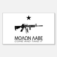 Molon Labe - Come and Take It Rectangle Decal