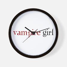 Unique Vampire girl Wall Clock