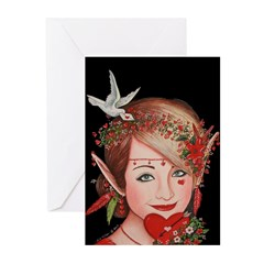 THE ELF OF HEARTS Greeting Cards (Pk of 20)