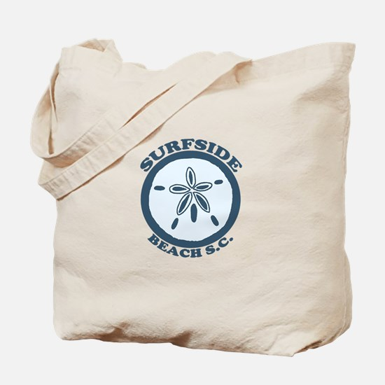 Surfside Beach SC - Sand Dollar Design Tote Bag