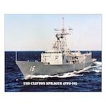 USS CLIFTON SPRAGUE Small Poster