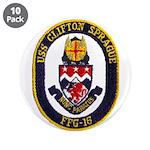 """USS CLIFTON SPRAGUE 3.5"""" Button (10 pack)"""