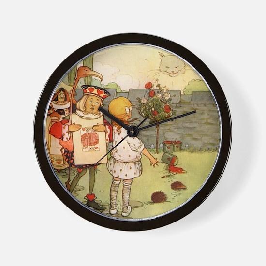 ALICE & THE CHESHIRE CAT Wall Clock