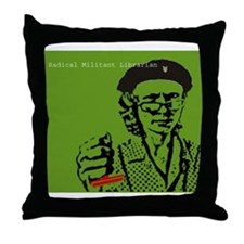 Guerilla Librarian Throw Pillow