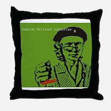 Guerilla Librarian Throw Pillow