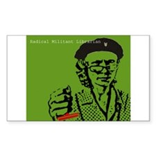 Guerilla Librarian Rectangle Decal