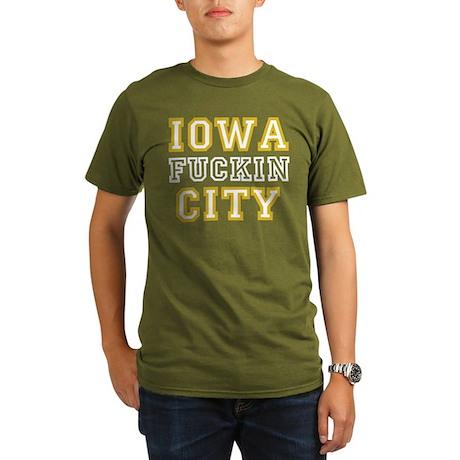 Iowa Effin' City Organic Men's T-Shirt (dark)