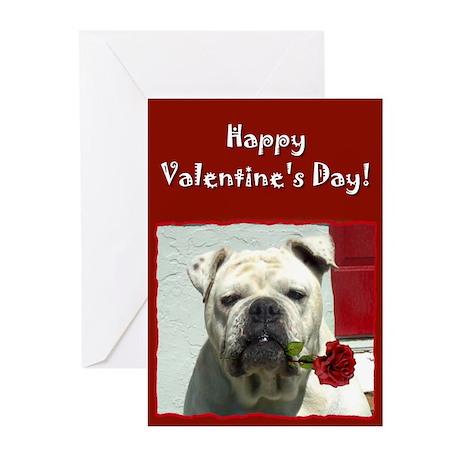 Happy Valentine's Day Bulldog Cards (Pk of 20)