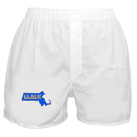 U.S. OUT OF MASSACHUSETTS Boxer Shorts