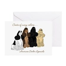 Cocker Colors Greeting Cards (Pk of 10)