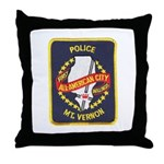 Mount Vernon Police Throw Pillow