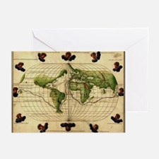 """""""1544 World Map"""" Greeting Cards (Pk of 20)"""