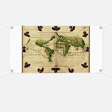 """1544 World Map"" Banner"