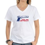 Just Try and Take It Women's V-Neck T-Shirt