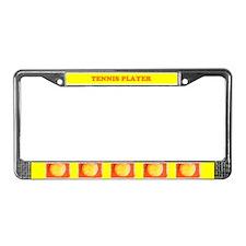 Tennis Player Tennis Balls License Plate Frame