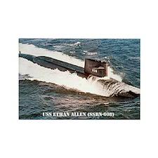 USS ETHAN ALLEN Rectangle Magnet