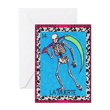 Vintage La Muerte Greeting Card