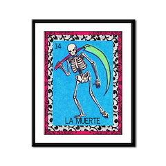 Vintage La Muerte Framed Panel Print