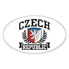 Czech Republic Oval Decal