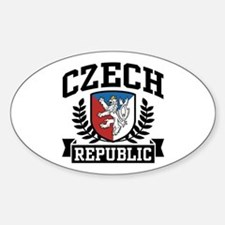 Czech Republic Oval Decal