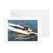USS ETHAN ALLEN Greeting Card