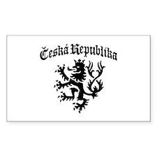 Ceska Republika Rectangle Decal